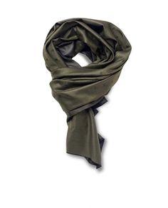 Marino-Silk Blend Reversible Scarf in Green - Qind Design Blanket Scarf, Scarves, Wool, Silk, Green, Stuff To Buy, Design, Fashion, Scarfs