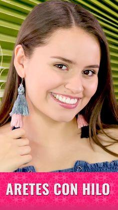 Diy Thread Earrings, Diy Earrings Easy, Diy Macrame Earrings, Handmade Wire Jewelry, Diy Crafts Jewelry, Earrings Handmade, Vintage Jewelry, Crochet Earrings Pattern, Diy Crafts Hacks