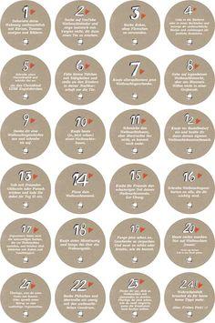 More - Advent calendar numbers with tasks for adults - a designer piece .- – Advent calendar numbers with tasks for adults – a unique product by Eine-der-Guten-Illustration on DaWanda Christmas Mood, Simple Christmas, Xmas, Christmas Events, Calendar Numbers, Christmas Countdown Calendar, Christmas Crafts For Adults, Advent Season, Advent Calenders