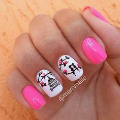 Visit the post for more. Pink Nail Art, Manicure Y Pedicure, Pink Nail Designs, Autumn Nails, Bridal Nails, Hot Nails, Nailart, Valentines, Instagram Posts