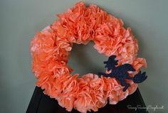 DIY Dyed Coffee Filter Halloween Wreath