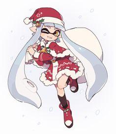 #Splatoon #Noël #Dessin kaiwaresan44 #Nintendo #JeuxVideo