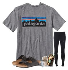 """""""comment if I can raid please:)"""" by rileykleiin ❤ liked on Polyvore featuring Patagonia, NIKE, Birkenstock, Speck, Essie, S'well and Cutler and Gross"""