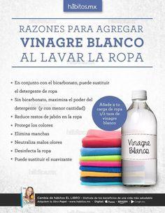 RAZONES PARA A AGREGAR VINAGRE BLANCO AL LAVAR LA ROPA