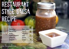 I  restaurant salsa. I have huge texture issue and generally restaurant salsa isn't overly chunky. It's smooth and fresh and I can't get enough of it. So when I had all of these tomatoes in my fridge I figured I'd give salsa making a try. I also had a bunch of tomatillos too, and...