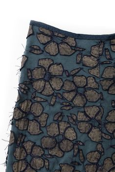 Alabama chanin floral long skirt 4