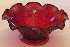 Red+Depression+Glass   this red depression glass bowl owned by kay caruso was made by ...
