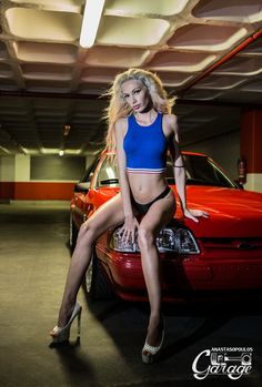 mustang and babes photoshooting