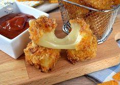 Bocaditos de queso crujientes (Receta fácil)
