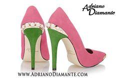 "Gear Shoes Pink Green Pumps 4"" Heel Shoes Boots Gear Hat Shirt Jacket Pearls Adriano Diamante http://www.amazon.com/dp/B00GZXXQMK/ref=cm_sw_r_pi_dp_H859vb03ADYJK"
