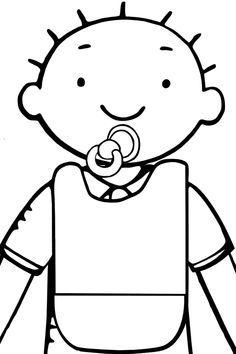 tekening fopspeen thema baby zoeken