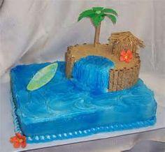 hawaiian themed cakes
