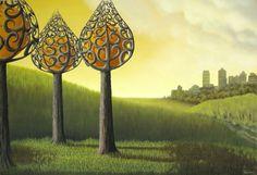 Patricia Van Lubeck 1965 | Hollandaise Surrealist painter | The psychedelic gardens