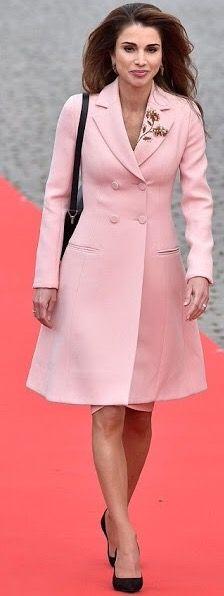 Queen Rania of Jordan in Dior