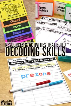 Teach your students to decode multisyllabic words when reading by using syllable types!