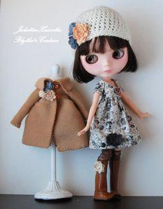 Blythe fall outfit dress coat  hat boots by juliettaexussetta
