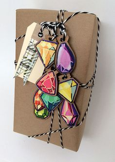 Amethyst Jewels Gift Tag Ornament by cleomade on Etsy
