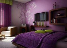 Dark Purple Bedroom
