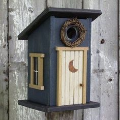 bird house Jayson Jayson Knoke - for the lot :) Bird Houses Painted, Decorative Bird Houses, Bird Houses Diy, Fairy Houses, Bird House Plans, Bird House Kits, Wood Projects, Woodworking Projects, Bird House Feeder