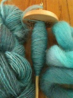 Spinning Wensleydale . Fiber by Spunky Eclectic __ photo by cmlynett, on flickr
