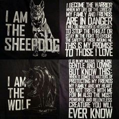 You embody the qualities of both the sheepdog and the wolf. I'm the wolf in survival mode focused only on protecting my heart. But you're helping me to get back in touch with my gentle and loving side. Wolf Quotes, Me Quotes, Motivational Quotes, Inspirational Quotes, Animal Quotes, Wisdom Quotes, Military Quotes, Warrior Quotes, Badass Quotes