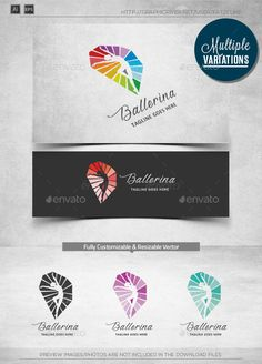 [ Ballerina Logo Template ] 300dpi, CMYK Print Ready Easy to customize and change colorAll vectors AI & EPS files Included.Adobe