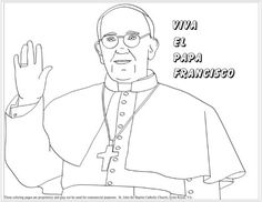 Pope Francis coloring page Coloring page for Pope Francis- Lots of Catholic Saint coloring pages- rosary, stations good stuff
