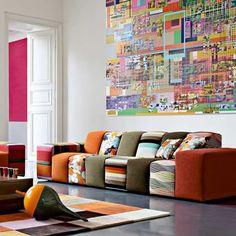 Multi-colored sofa