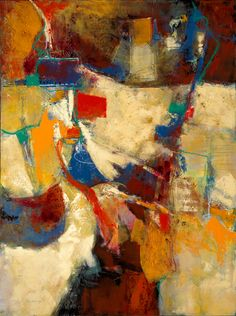 "Artifact - Abstract Oil on Panel copyright Ruth Armitage 2014 Oil on Panel 48x36"" $2900"