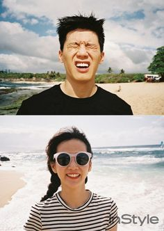 Check Out the 'InStyle' Hawaiian Vacay Photos from Yoon Seung Ah and Kim Moo Yeol! | Koogle TV