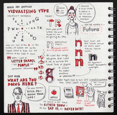Karin von Ompteda: Visualising Type & Chip Kidd: What are you doing here? @ Typo London by evalottchen, via Flickr