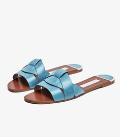 64444b767aec LEATHER CROSSOVER SANDALS. Find New Look s stylish collection of females   heeled flip flops