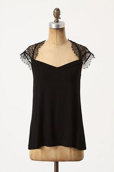 Fringed Lace Top #anthropologie