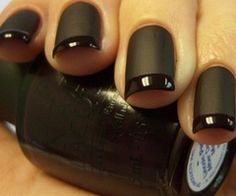 I would only do it if my nails were shorter but I like the two tone, matte and glossy.