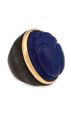 Large Resin Scarab Ring