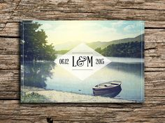 Vintage Lake Save the Date Postcard // Vermont by factorymade