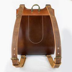 Colorful Leather Backpack Handmade rucksack 13 por InBagWeTrust