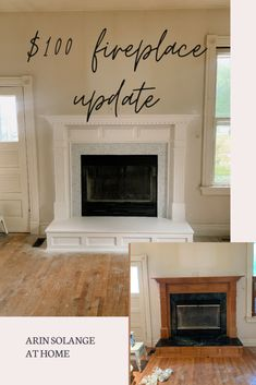 Check out how I used peel and stick backsplash, paint, and some high heat paint to update our fireplace in our historic home on a tight budget! The perfect weekend project to make your home more modern. #DIY #DIYdecor Stick On Tiles, Backsplash, Home Decor, Peel N Stick Backsplash, Peel And Stick Tile, Fireplace, Fireplace Update, Diy Home Decor Projects, High Heat Paint