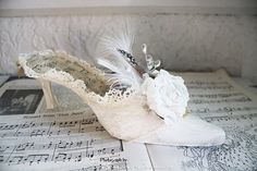 Marie Antoinette - shoe.. beautiful shoe for a wedding. I dont know if Megan would like but it appears the Vintage that she likes.