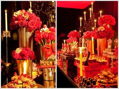 moulin rouge decor - table dressing