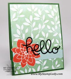 Rubber Stamping Technique: Stampin' Spritzer With Ink Refill Card Crafts, Paper Crafts, Rubber Stamping Techniques, Hand Stamped Cards, Specialty Paper, Flower Patch, Stamp Sets, Flower Cards, Stampin Up Cards