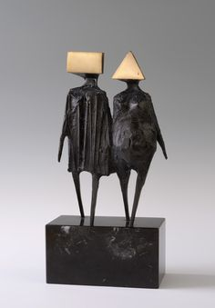 Lynn Chadwick – Maquette VI Walking Couple – (1976 via Alan Wheatley Art)