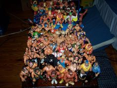 My most tomboyish toy by far was my collection of Hasbro WWF figures. It started young. I was awesome. Action Move, Wwf Hasbro, Wwe Toys, Wwe Action Figures, Those Were The Days, Childhood Toys, Wwe Superstars, Vintage Toys