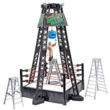 WWE - Pay-Per-View Headquarters Series - Money in the Bank Ring Playset with Dolph Ziggler Figure Source by Wwe Bedroom, Figuras Wwe, Wwe Money, Hockey Room, Wwe Belts, Wwe Sasha Banks, Wwe Toys, Wwe Action Figures, Wwe Pay Per View