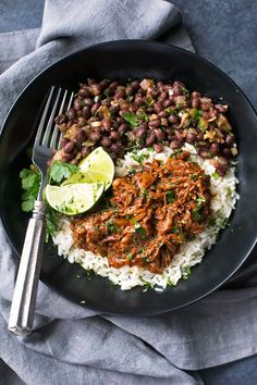 The easiest cuban shredded beef (ropa vieja) made in the slow cooker. Seared beef that's braised in the slow cooker with onions, garlic, and spices. YUM!