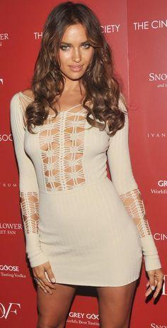 Irina Shayk in short dress by Jen Kao (1)
