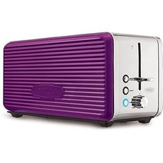 PURPLE Bella Linea Collection 4Slice Toaster Made of Durable Metal and Features Extrawide Slots with SelfCentering Guides and a HighLift Lever Antijam with auto shutoff Metallic Painted Side Panels *** Check this awesome product by going to the link at the image.  This link participates in Amazon Service LLC Associates Program, a program designed to let participant earn advertising fees by advertising and linking to Amazon.com.