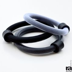 Rubber and Colored Net Cord  Pink 3 Bracelets Set Gray  Colorful Bracelet  Street Fashion  Casual Jewelry White