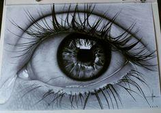 New Eye Tattoo Realistic Drawing Ideas Realistic Pencil Drawings, Amazing Drawings, Pencil Art Drawings, Art Drawings Sketches, Drawing Drawing, Eye Drawings, Eye Drawing Tutorials, Drawing Techniques, Hyperrealistic Drawing