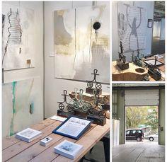 Artexhibition i Lokomotivværkstedet - Kunst for Alle. Min stand 77 oktober 2017
